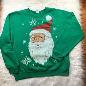 Ugly Christmas Sweater pullover Santa Graphic